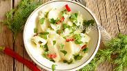 Фото рецепта Салат из кольраби с чили
