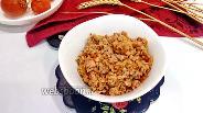 Фото рецепта Гречка с овощами и копчёным окорочком