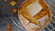 Фото рецепта Хлеб на закваске с грецкими орехами