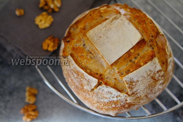 Фото Хлеб на закваске с грецкими орехами