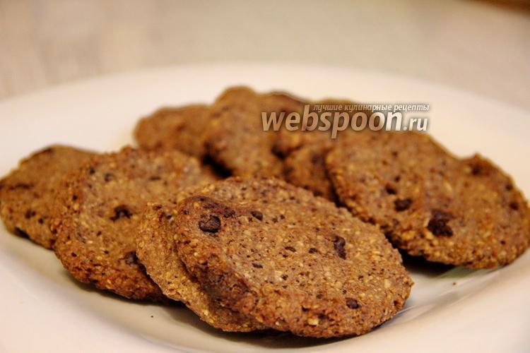 Фото Овсяное печенье с шоколадом и орехами с бананом