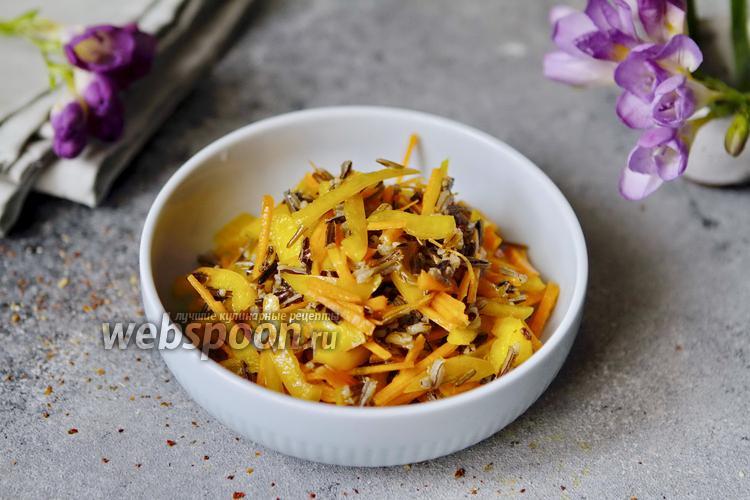 Фото Салат из дикого риса с овощами