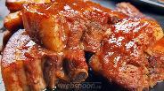Фото рецепта Свиные рёбрышки в вишнёвом соке. Видео-рецепт. +Бонус