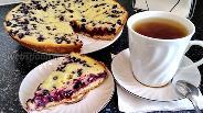 Фото рецепта Заливной пирог с черникой