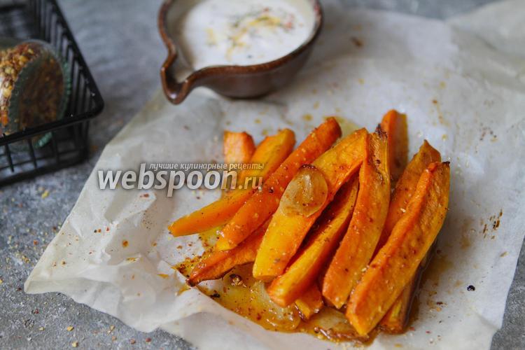 Фото Запечённая морковь с мёдом и паприкой
