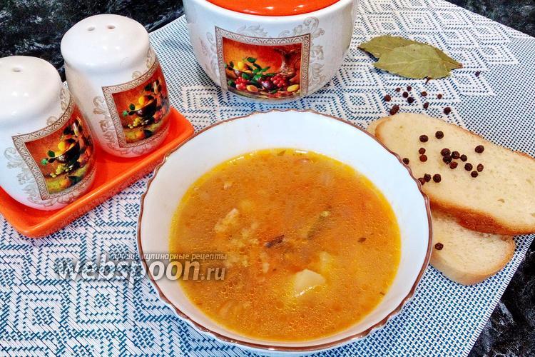 Фото Суп из кильки в томате с пшеном