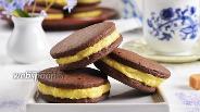 Фото рецепта Шоколадное печенье-сэндвич