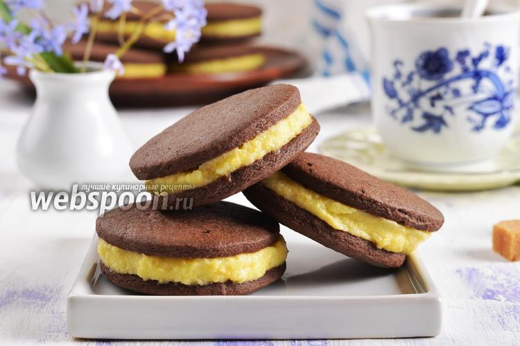 Фото Шоколадное печенье-сэндвич