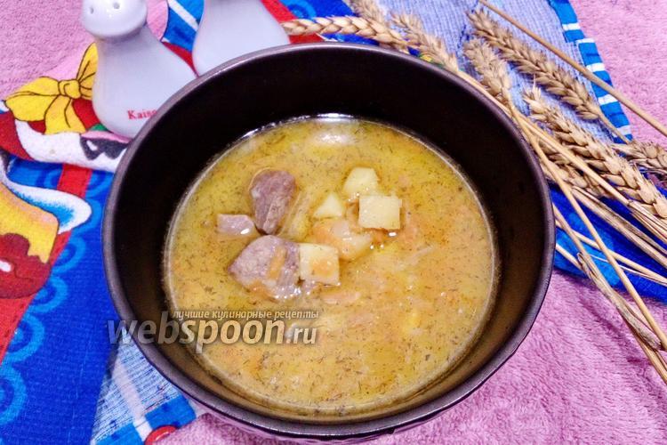 Фото Тушёный картофель с свиной печенью