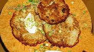 Фото рецепта Драники с шампиньонами
