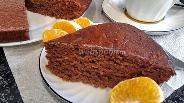Фото рецепта Постный шоколадный бисквит