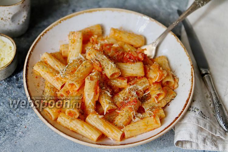 Фото Тортильони с неаполитанским соусом