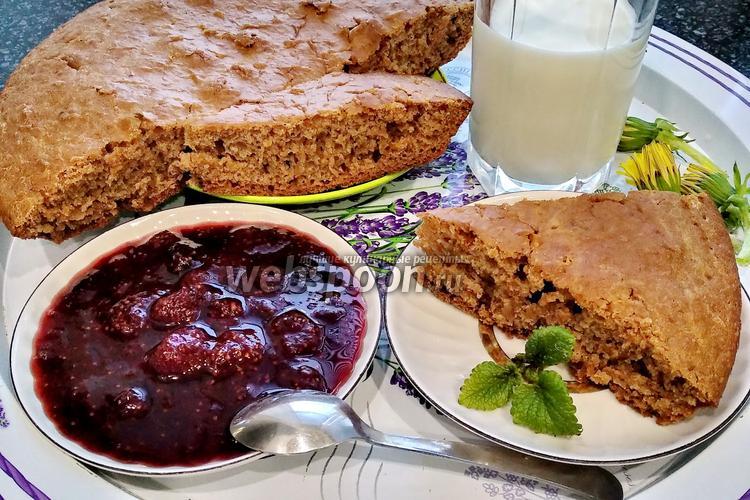 Фото Постный пирог на чайной заварке