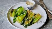 Фото рецепта Тушёная пикантная капуста пак-чой