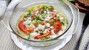 Фото рецепта Омлет «Греческий салат»