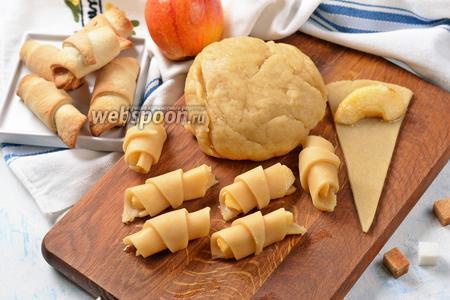 Фото рецепта Постное тесто для рогаликов