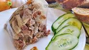 Фото рецепта Заливное из куриных желудков