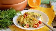 Фото рецепта Булгур с вялеными томатами в мультиварке