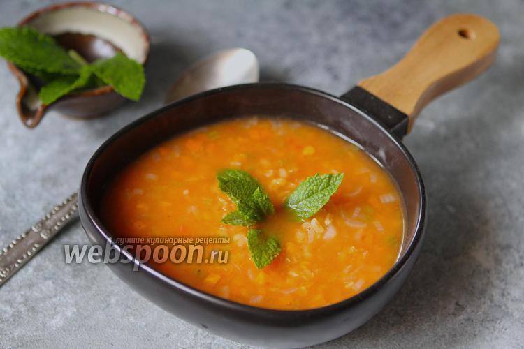 Фото Турецкий суп с булгуром и чечевицей