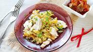 Фото рецепта Жареная картошка с куриным филе
