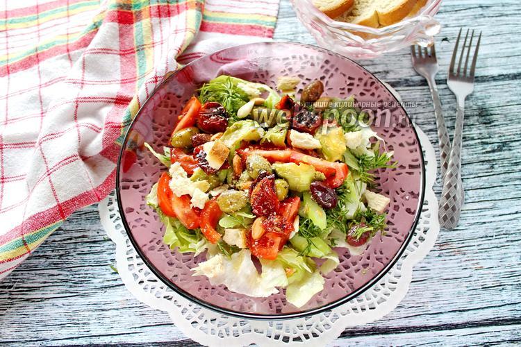 Фото Салат с авокадо, оливками и помидорами