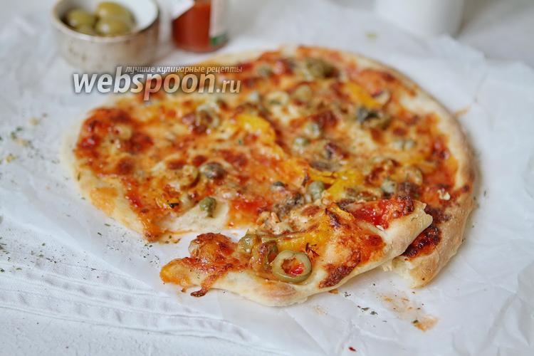 Фото Домашняя овощная пицца