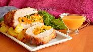 Фото рецепта Свиная корейка запечённая в духовке с курагой