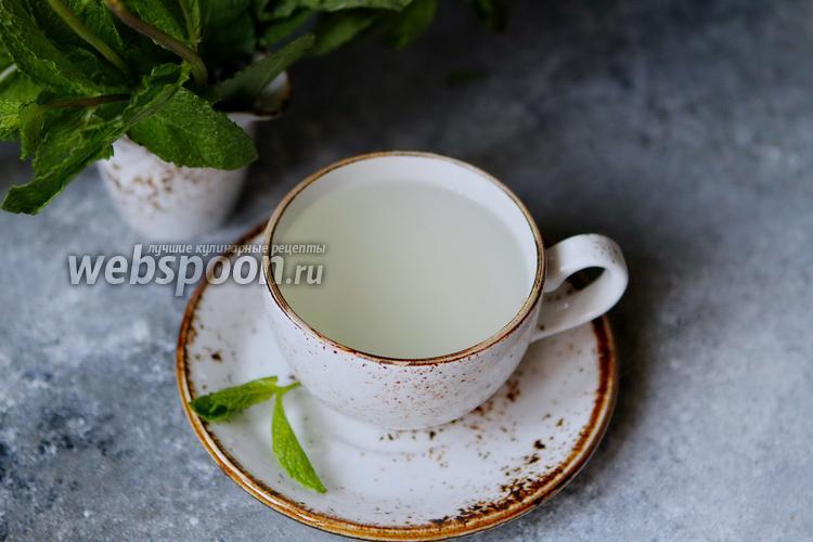 Фото Имбирно-мятный напиток