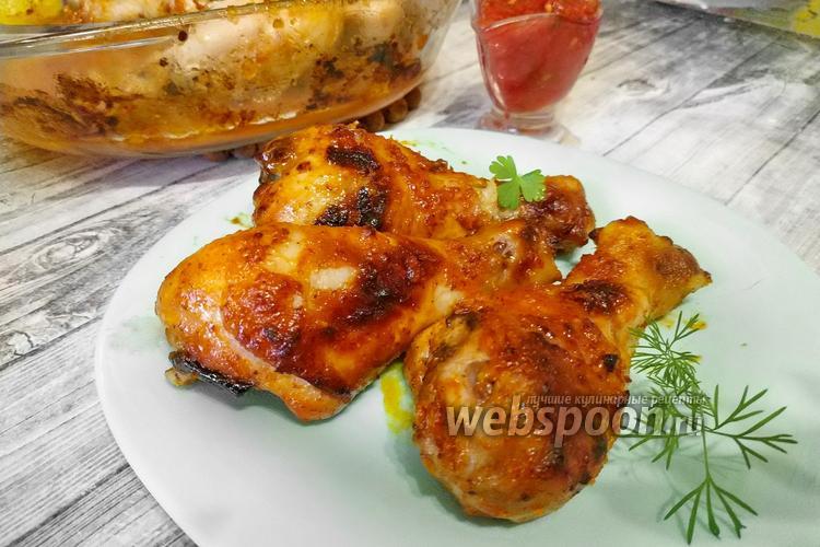 Фото Куриные ножки в медово-горчичном соусе
