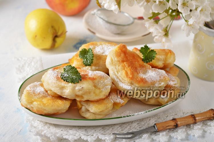 Фото Постные оладьи с яблоками
