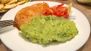 Фото рецепта Зелёное картофельное пюре со шпинатом