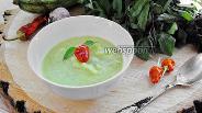 Фото рецепта Суп-пюре из кабачков с мятой