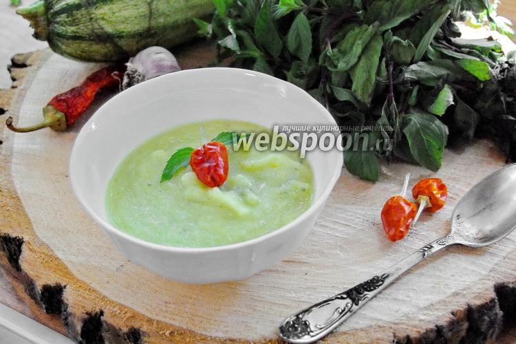 Фото Суп-пюре из кабачков с мятой