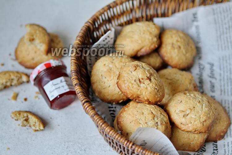 Фото Овсяное печенье с орехами