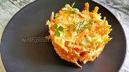 Фото рецепта Салат с морковью и яйцом