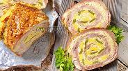 Фото рецепта Рулет из свиной шеи в сметанно-горчичном маринаде