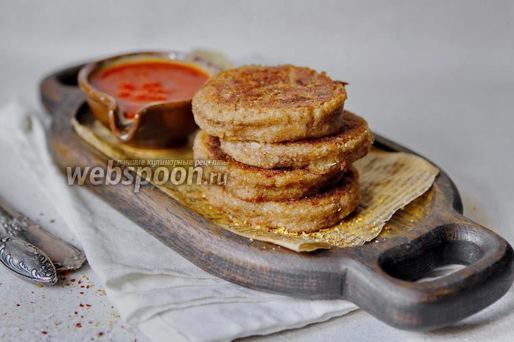 Фото Котлеты из риса с грибами