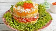 Фото рецепта Салат из сёмги с апельсинами