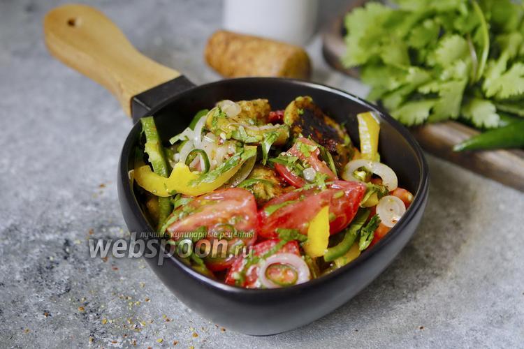 Фото Острый салат с баклажанами по-армянски