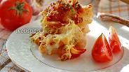 Фото рецепта Цветная капуста с помидорами в духовке