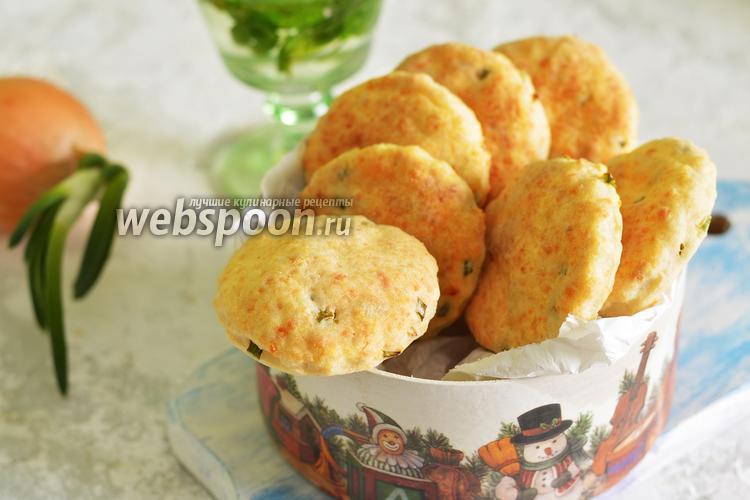 Фото Сырное печенье с луком