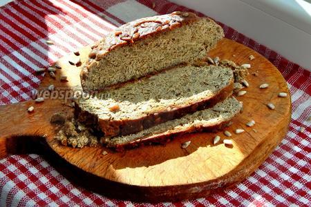 Фото рецепта Бездрожжевой ПП хлеб в мультиварке