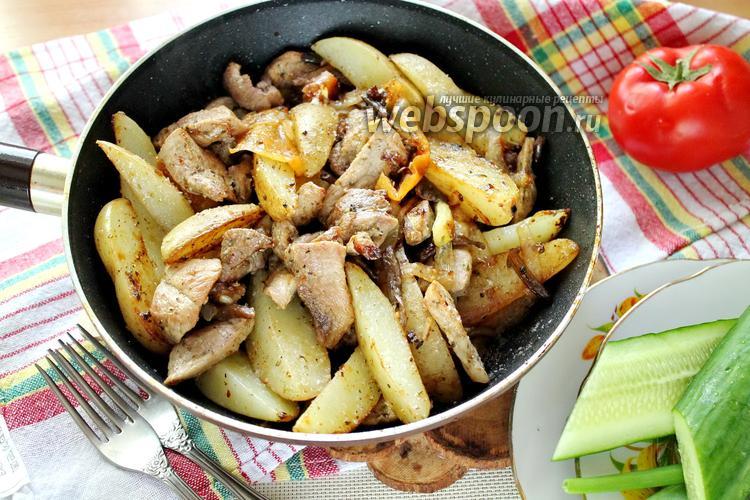 Фото Горячая сковородка со свининой