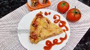Фото рецепта Пицца на майонезе с сосисками и маслинами