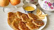 Фото рецепта Постные оладьи с яблоками без дрожжей