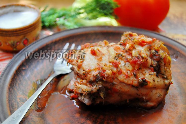 Фото Курица в томатном маринаде запечённая в рукаве