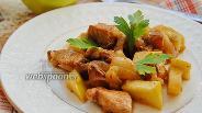 Фото рецепта Куриный гуляш с яблоками
