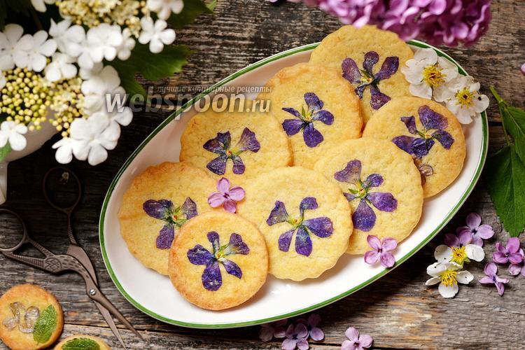 Фото Печенье с цветами
