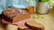 Фото рецепта Ржаной заварной хлеб на закваске