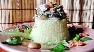 Фото рецепта Куриное филе с кешью и шампиньонами